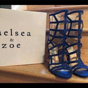 Chelsea & Zoe Denice Royal Blue Sandal